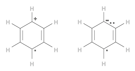 Benzene Radical Ion: Cation and Anion