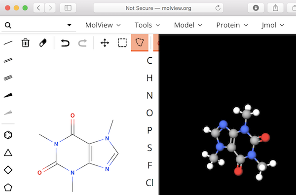 Molecule Online Tool - molview.org