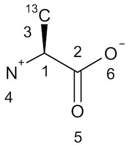 L-Alanine with Chiral Center